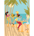 tropical gossip vector image vector image