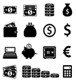Money and banking icons vector image