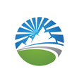 Mountains Logo vector image