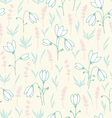 Seamless background with snowdrops vector image vector image