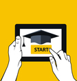 E-education and distance learning - tablet pc vector image vector image