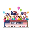USA United States Happy crowd of people with vector image