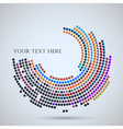 Background with abstract mosaic vector image