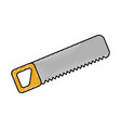 construction saw carpentry tool metal wooden vector image