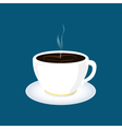 Cup of Tea Isolated on Blue Background vector image