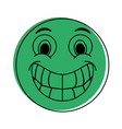 happy grin emoji instant messaging icon imag vector image