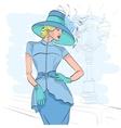 Model fashion sketch vector image