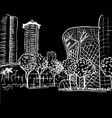 orchard road in singapore vector image