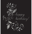 Silver greeting Happy birthday card vector image