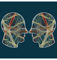 human profiles vector image vector image