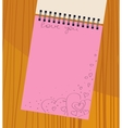 notebook with hearts vector image