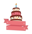sweet cake card icon vector image
