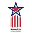 Memorial day card 2017 29 may remember and honor vector image