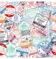 passport stamp seamless pattern international vector image