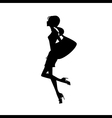 silhouette of women vector image