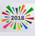2018 new year with glitch effect vector image