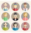 Set of nine male avatars vector image