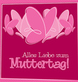 Hand Drawn German Happy Mothers Day card in format vector image vector image