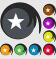 Star sign icon Favorite button Navigation symbol vector image