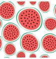 Seamless Pattern Background from Watermelon vector image
