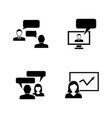 consulting simple related icons vector image