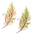 Feather drawing vector image