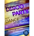 Night club disco party poster vector image