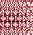 Seamless pattern with geometric flowers vector image