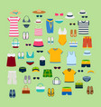 set of summer clothes and accessories vector image