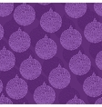 Christmas Bauble seamless pattern vector image