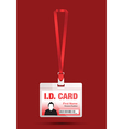 id card man red vector image