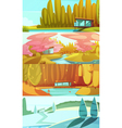 Nature Seasons Landscapes Horizontal Banners Set vector image