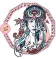 Zodiac of the girl vector image vector image