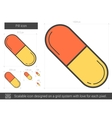 Pill line icon vector image