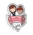 Couple of newlyweds character vector image