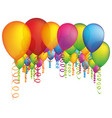 colored many party balloon with serpentine icon vector image