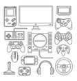 computer digital video online game console game vector image