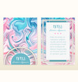 cover design with marbling marble texture vector image