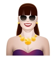 pretty woman with sunglasses vector image vector image