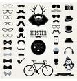 Hipster Retro Vintage Icon Set vector image