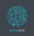 linear graphic design concept vector image vector image