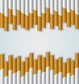 Cigarette background vector image vector image