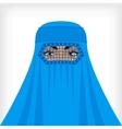 Muslim woman in blue burqa vector image