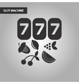 black and white style jackpot Lucky seven vector image
