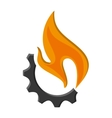 fear and fire icon vector image