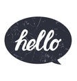 Hello hand draw lettering calligraphy on black vector image