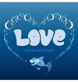 love frame vector image