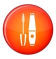 Mascara mascara brush icon flat style vector image