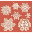 paper cut golden snowflakes vector image