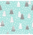 seamless pattern with New Year silver vector image